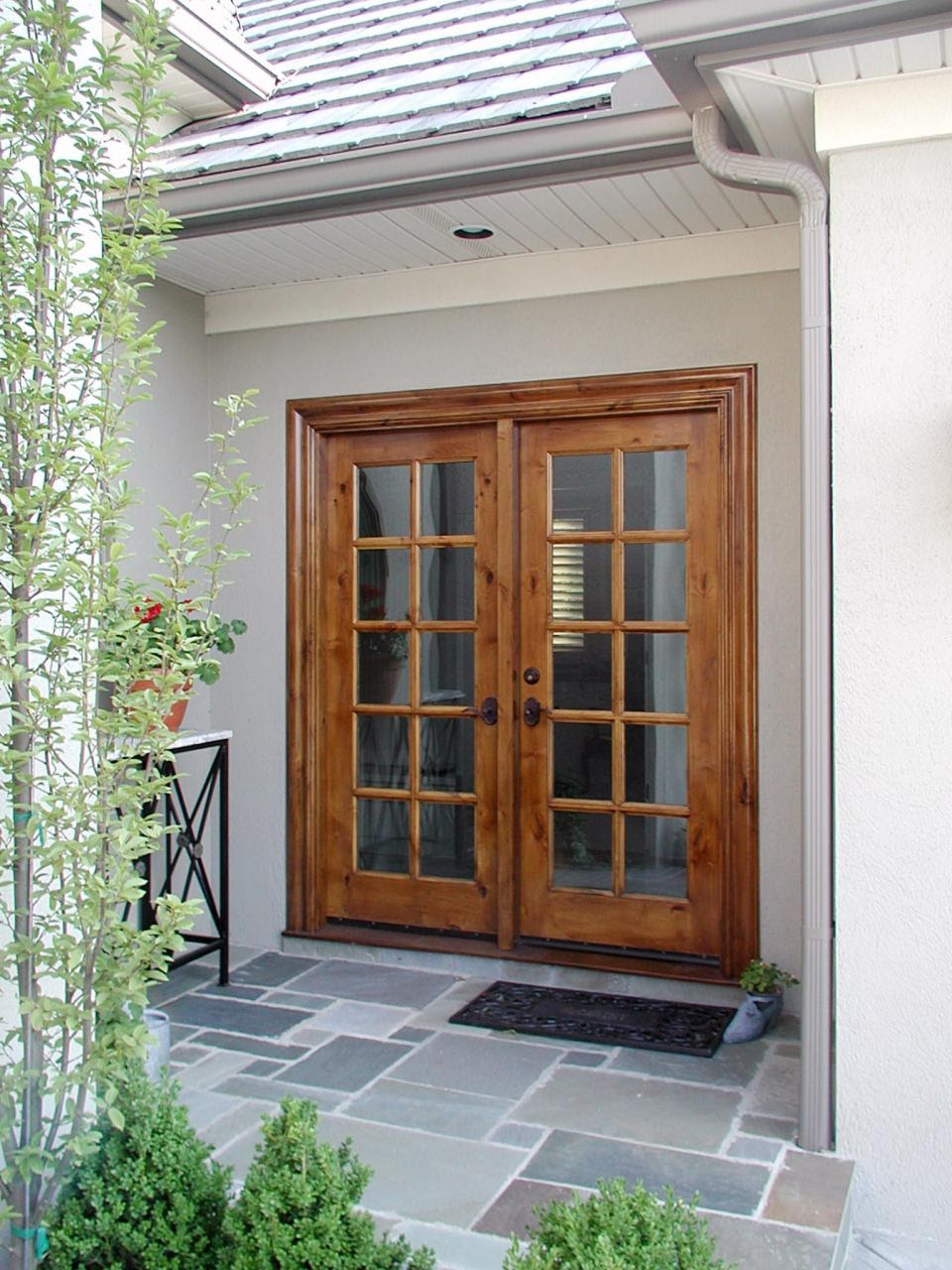 wood french doors