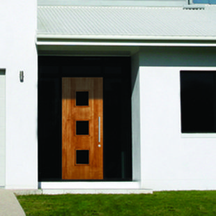 Simpson Contemporary Wood Doors available through Niece Lumber